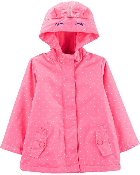Fleece-Lined Unicorn Rain Jacket