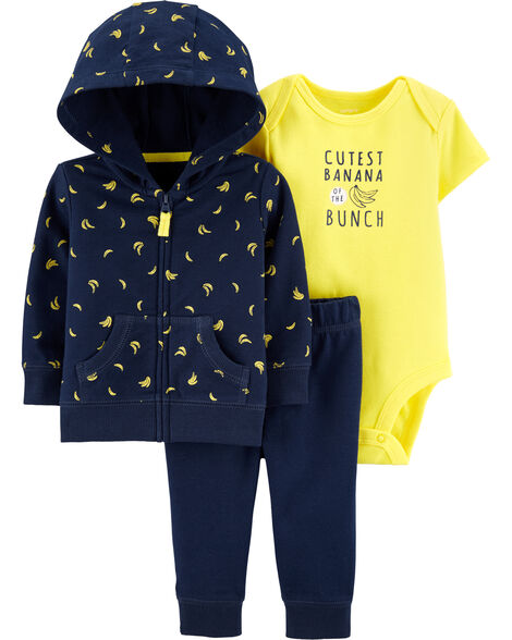 3-Piece Banana Little Jacket Set