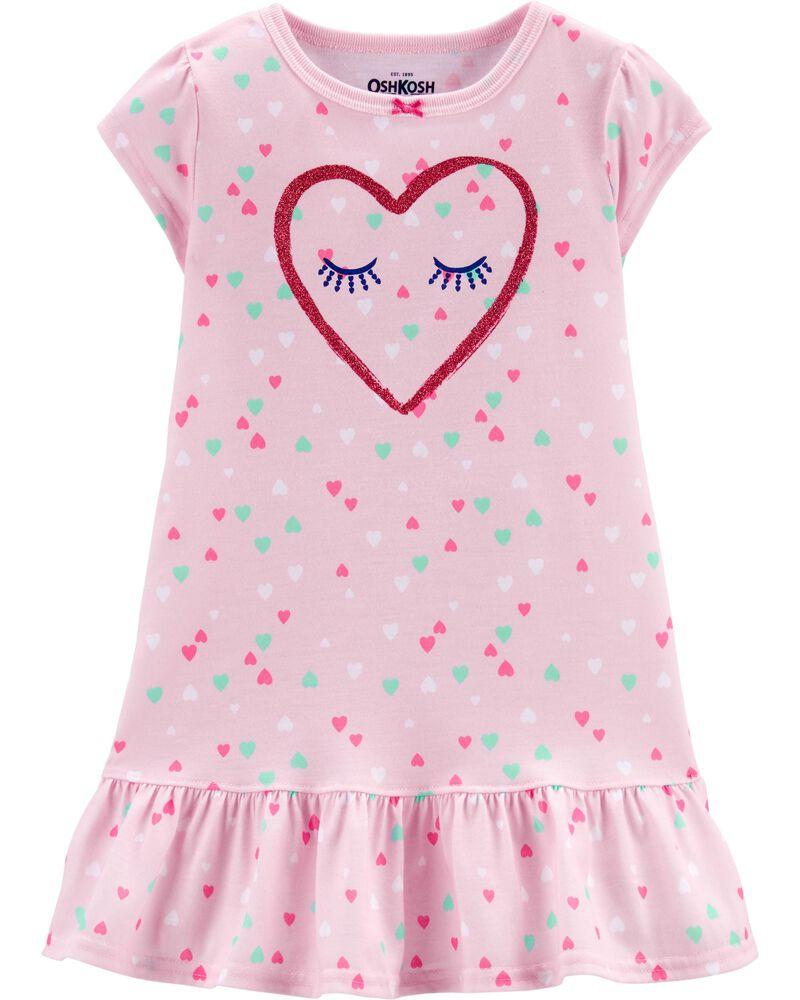 Heart Nightgown, , hi-res