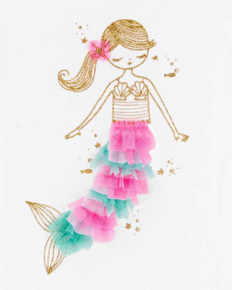 Glitter Mermaid Bow Back Bodysuit, , hi-res