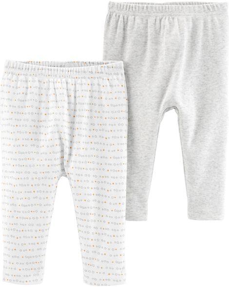 Emballage de 2 pantalons certifiés biologiques