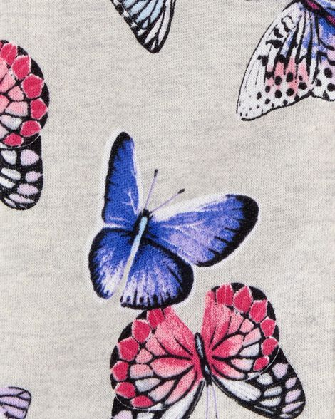 Butterfly Zip-Up Fleece Jacket