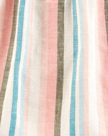 2-Piece Striped Linen Top & Legging...