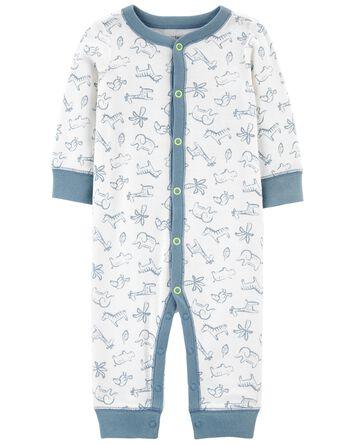 Zip-Up Cotton Footless Sleep & Play
