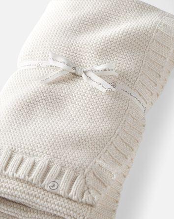 Organic Seed Stitch Blanket