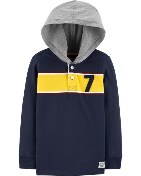 Hooded Rugby Tee