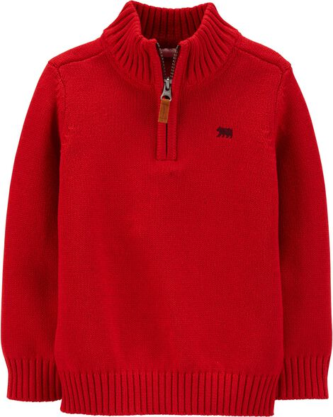 Half-Zip Pullover Sweater