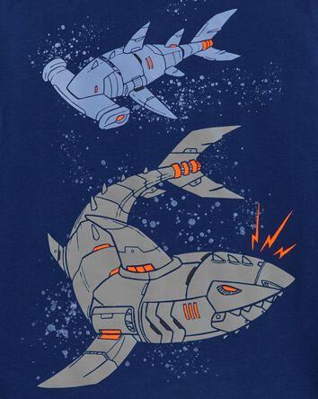 T-shirt en jersey avec requin robot