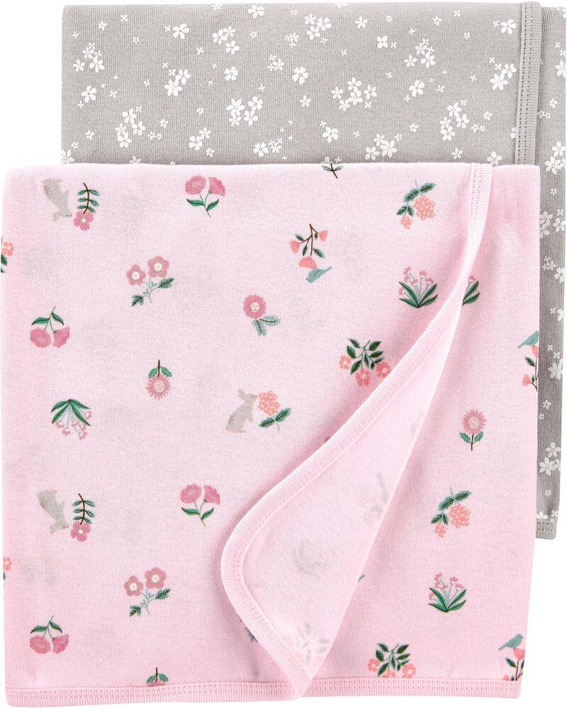 Emballage de 2 couvertures fleuries, , hi-res