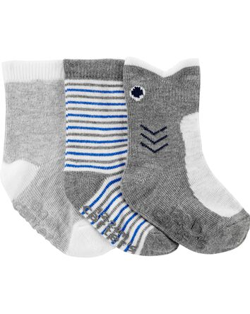 3-Pack Shark Ankle Socks