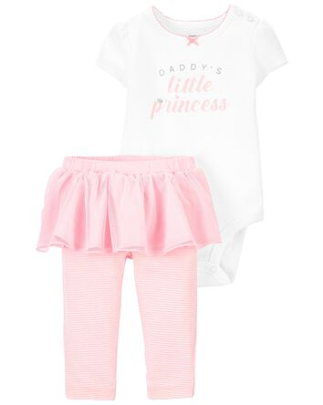 2-Piece Princess Bodysuit & Tutu Pa...