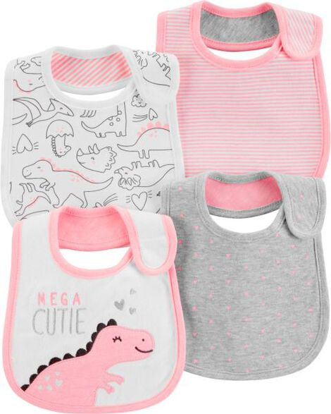 4-Pack Dinosaur Teething Bibs