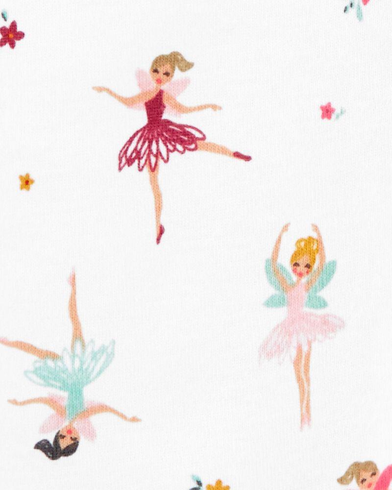 1-Piece Ballerina 100% Snug Fit Cotton Romper PJs, , hi-res
