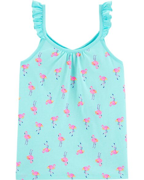 Flamingo Ruffle Tank