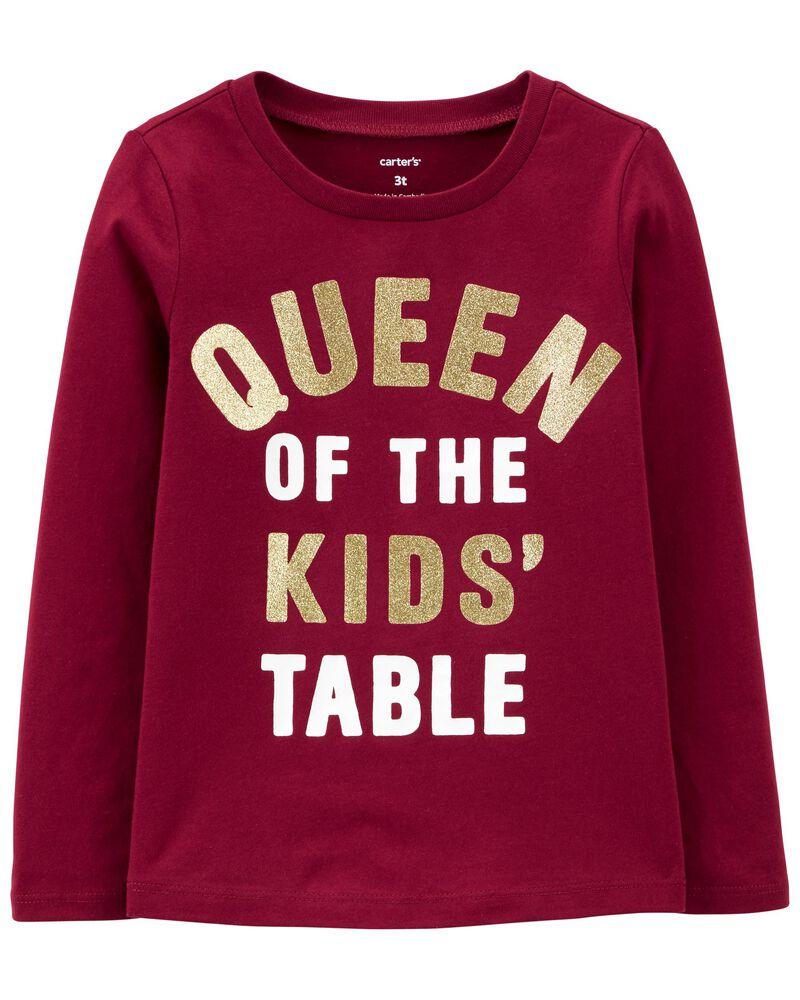 Queen Of The Kids' Table Jersey Tee, , hi-res