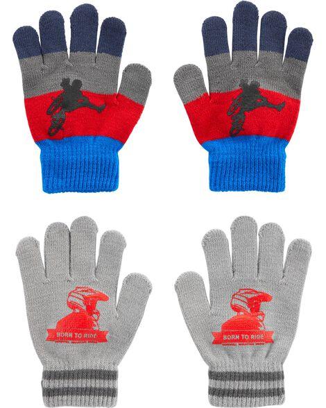 2 paires de gants BMX à paume agrippantes Kombi