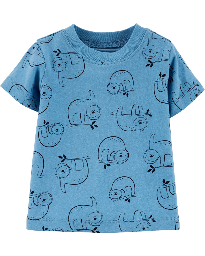 Ensemble 2 pièces t-shirt à paresseux et salopette courte, , hi-res