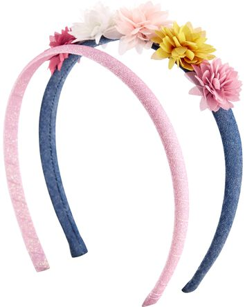 2-Pack Floral Headbands