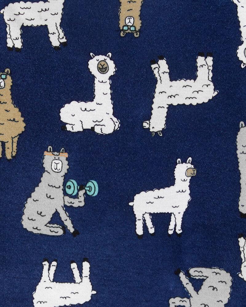 4-Piece Llama Snug Fit Cotton PJs, , hi-res