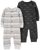 2-Pack Cotton Jumpsuits, , hi-res