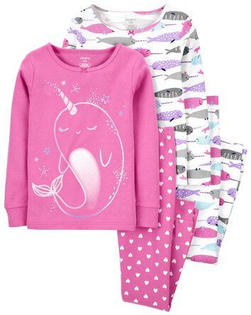 Pyjama 4 pièces en coton ajusté à m...