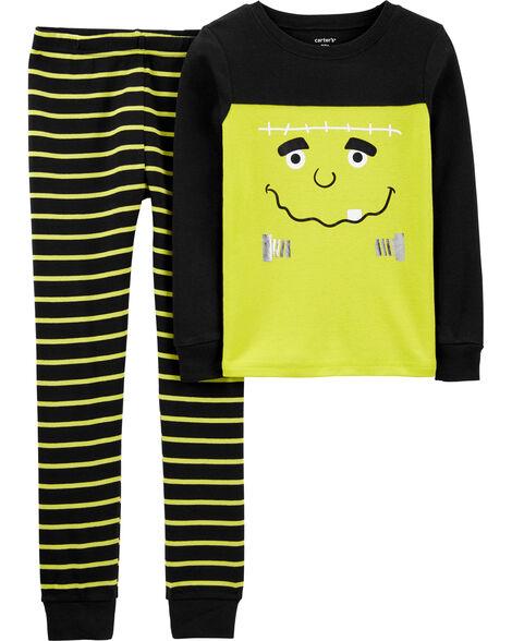 Pyjama 2 pièces monstre d'Halloween en coton ajusté