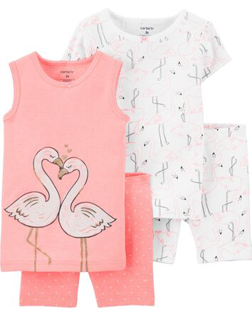 4-Piece Flamingo 100% Snug Fit Cott...