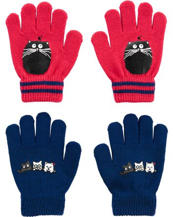 Emballage de 2 paires de gants chat...