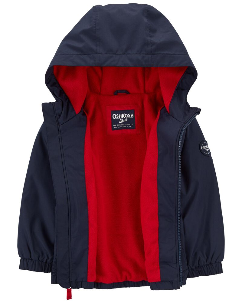 Fleece-Lined Striped Jacket, , hi-res