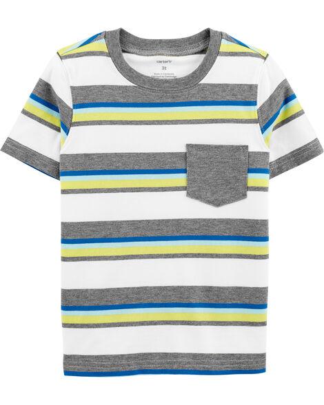 T-shirt rayé avec poche