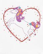 T-shirt en jersey à cœur et cheval, , hi-res