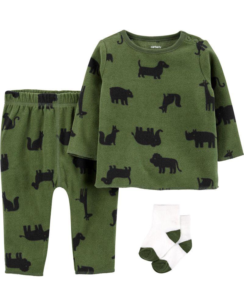 3-Piece Fleece Outfit Set, , hi-res