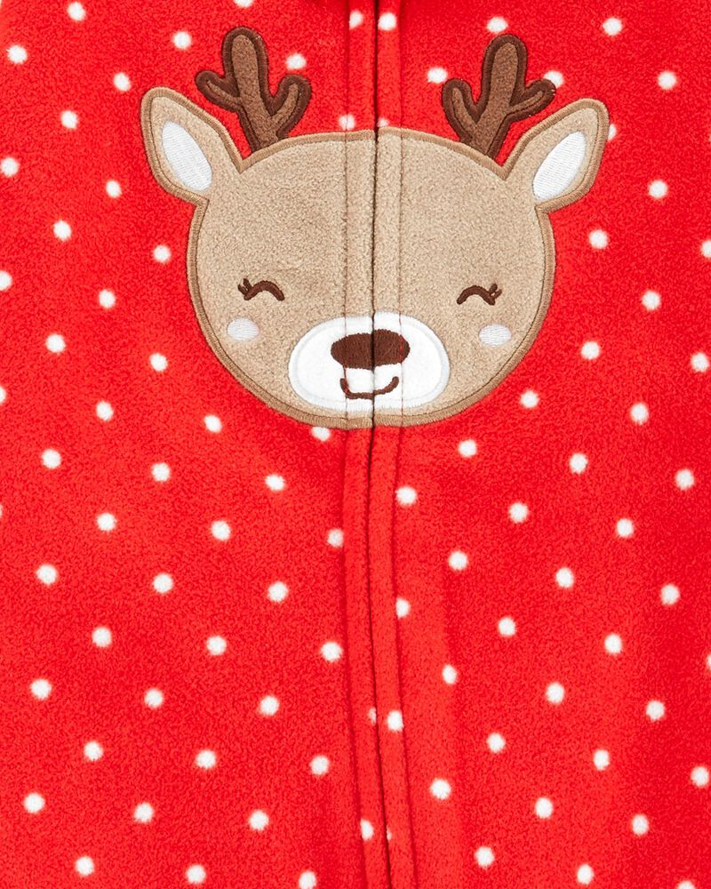 Christmas Zip-Up Fleece Sleep & Play, , hi-res