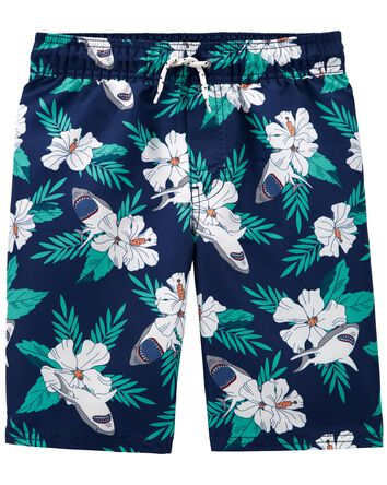Tropical Shark Swim Trunks