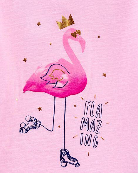 Flamingo Ruffle Sleeve Tee