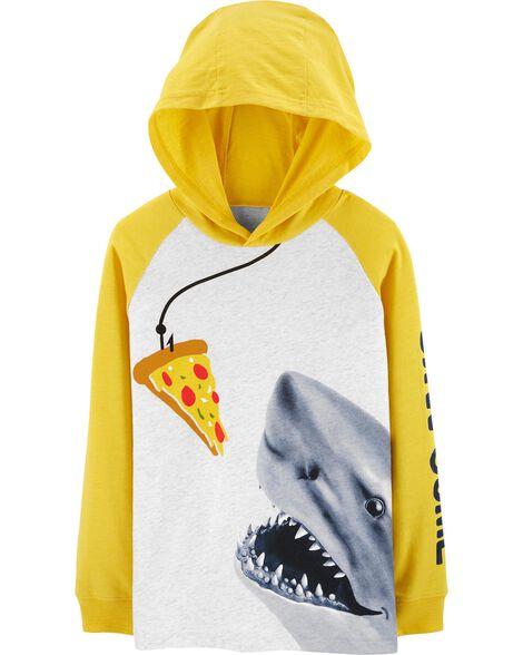 Shark Raglan Pullover Hoodie