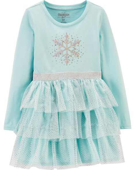 Sequin Snowflake Tulle Dress