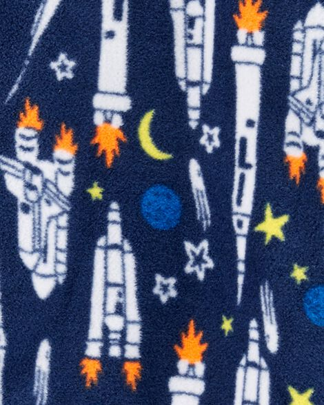 Pyjama 1 pièce en molleton Fusée