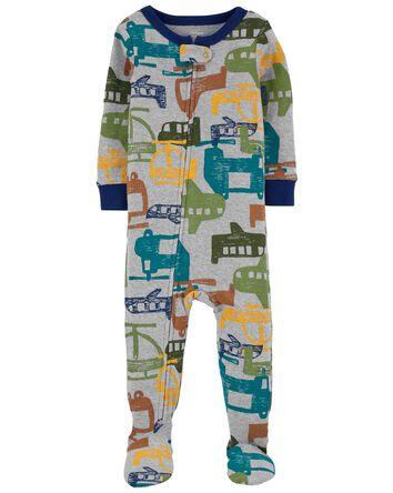 Pyjama 1 pièce en coton ajusté avec...