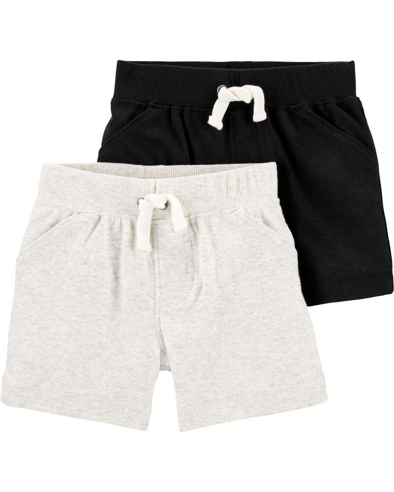 Embalalge de 2 shorts en coton, , hi-res