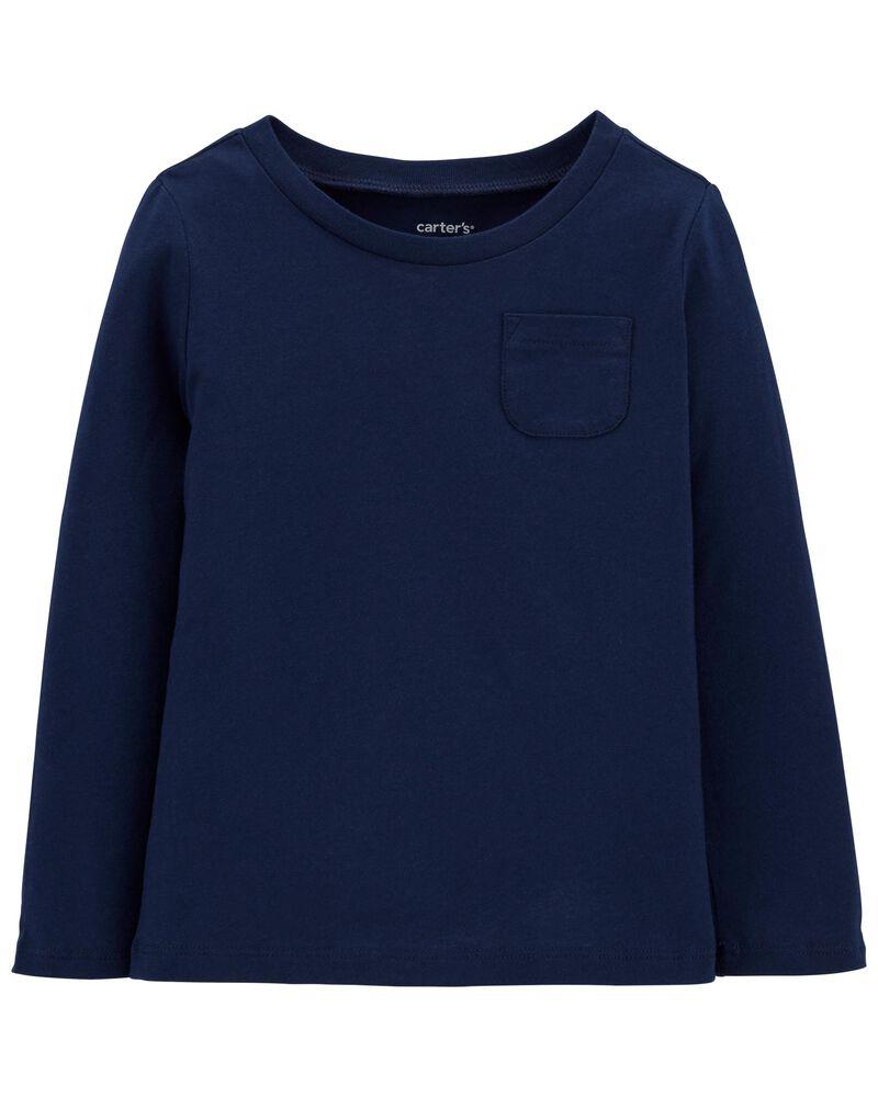 T-shirt à manches longues en jersey, , hi-res