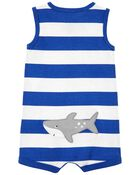Shark Cotton Romper, , hi-res