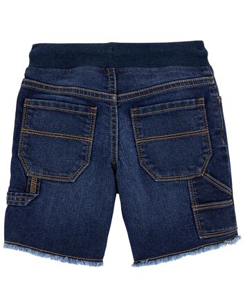 Short à enfiler en tricot de denim
