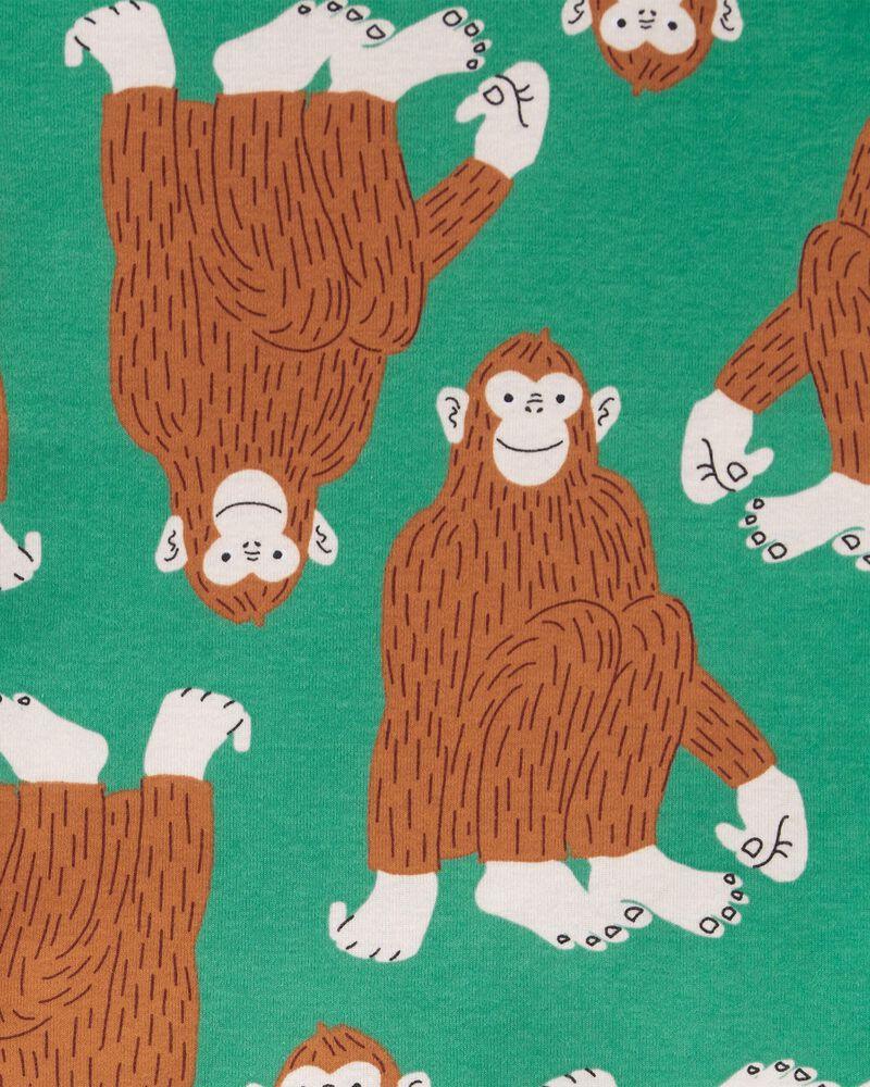 Pyjamas 4 pièces en coton ajusté gorille, , hi-res