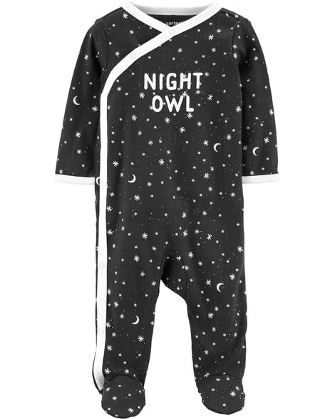 Night Owl Side-Snap Cotton Sleep & Play