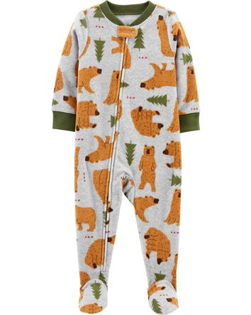 1-Piece Bear Fleece Footie PJs
