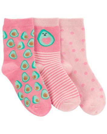 3-Pack Avocado Crew Socks