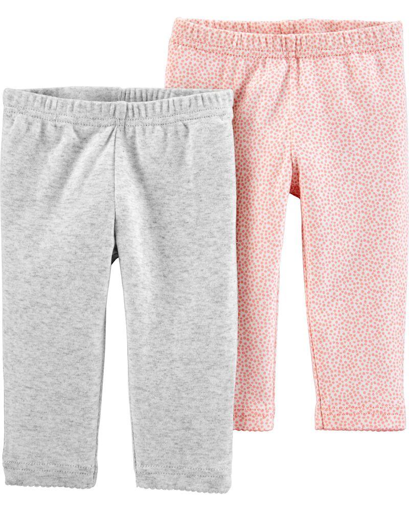 Emballage de 2 pantalons en coton certifié biologique, , hi-res