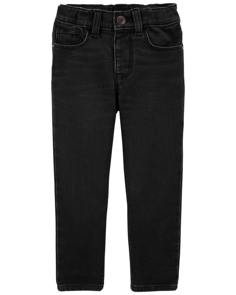 Jeans en tricot de denim de coupe étroite, , hi-res