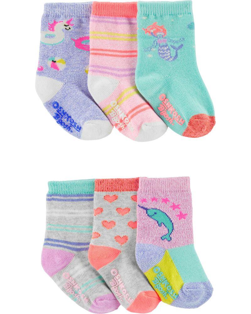 6-Pack Icon Crew Socks, , hi-res
